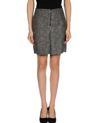 See By Chloé Black Mini Skirt - Lyst