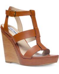 Steve Madden Womens Iris Platform Wedge Sandals - Lyst
