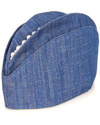 Masterpeace - Pearl-Embellished Denim Hat - Lyst