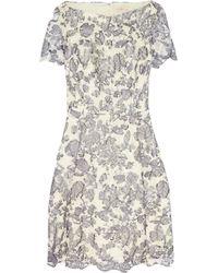 Tory Burch Summer Guipure Lace Mini Dress - Lyst