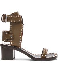 Isabel Marant Jaeryn Pomponius Calfskin Leather Sandals - Lyst