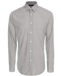 Paul Smith Grey Diamond Print Byard Shirt gray - Lyst