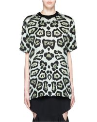 Givenchy | Leopard Print Long T-shirt | Lyst