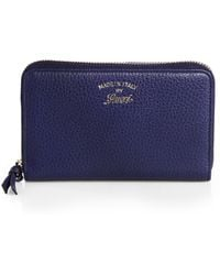 Gucci Swing Leather Ziparound Wallet - Lyst