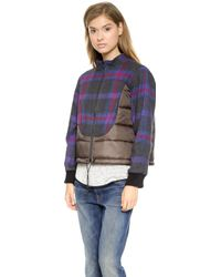 Sea Plaid Puffer Jacket  Multi - Lyst