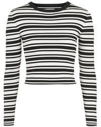 Topshop Striped Cropped Knit By Unique - Lyst