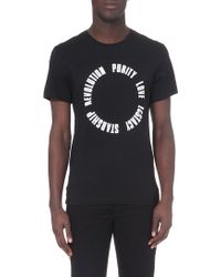 Sandro Cotton-Jersey T-Shirt - For Men - Lyst