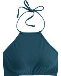 J.Crew Crop Halter Bikini Top blue - Lyst