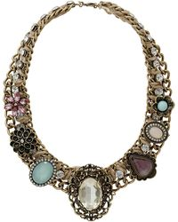 Topshop Assorted Large Stone Collar  Multi - Lyst