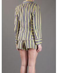 Christian Lacroix - Striped Short Suit - Lyst