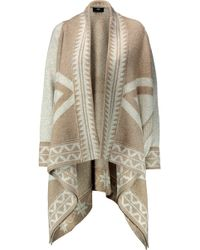 Line | Jacob Printed Knitted Cape | Lyst