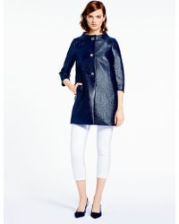 Kate Spade Lacquered Tweed Erika Coat - Lyst