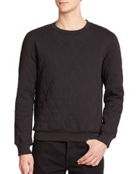 BLK DNM - Quilted Cotton Sweatshirt - Lyst