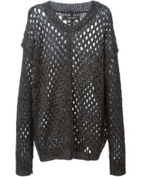 Isabel Marant Open Knit Sweater - Lyst