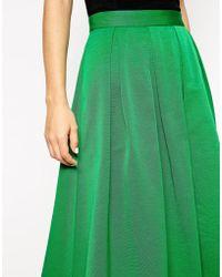 Asos Midi Skirt In Satin Twill - Lyst