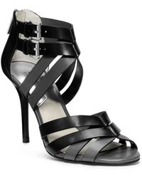 Michael Kors Camie Opentoe Leather Sandal - Lyst