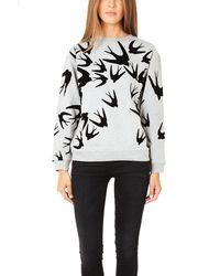 McQ by Alexander McQueen Mcq Classic Flock Sweatshirt - Lyst