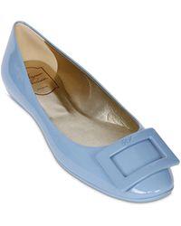 Roger Vivier 10Mm Gommette Patent Ballerina Flats blue - Lyst