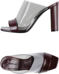 Celine Purple Sandals - Lyst