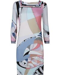 Emilio Pucci Astana Square Neck Shift Dress - Lyst