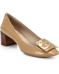 Tory Burch Patent Leather Logo Pumps - Lyst