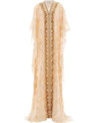 Badgley Mischka - Geometric Embroidered Caftan - Lyst