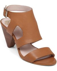 Vince Camuto Endell High-Heel Leather Sandals - Lyst