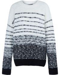 Vince Cream Textured Stripe Knitted Jumper - Lyst