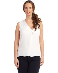French connection Sleeveless Blouse - Lyst