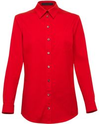 Gucci Long Sleeve Shirt red - Lyst