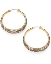 Michael Kors Brilliance Statement PavÉ Hoop Earrings/1.5 gold - Lyst