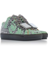 Acne Studios Green Lowtops  Trainers - Lyst
