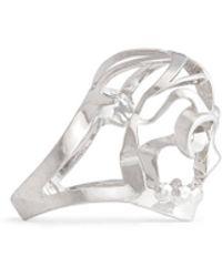 Alexander McQueen Deco Skull Ring silver - Lyst