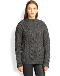 Belstaff Brea Cable-Knit Sweater - Lyst