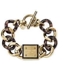 Michael Kors Gold-Tone Tortoise Curb Chain Bracelet - Lyst