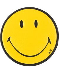 Anya Hindmarch Smiley Sticker yellow - Lyst