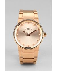 Nixon Gold Cannon Watch - Lyst