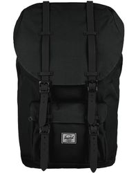 Herschel Supply Co. - Black Little America Backpack with Rubber Detail - Lyst