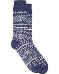 Corgi - Fair Isle Socks - Lyst