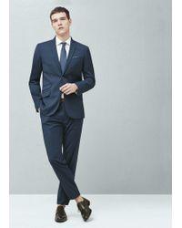 Mango - Micro Houndstooth Suit Blazer - Lyst