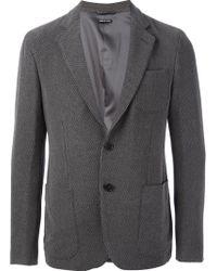 Giorgio Armani Gray Patterned Jacket - Lyst