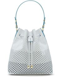 Vince Camuto Leila Leather Drawstring Tote - Lyst