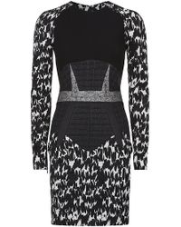 Antonio Berardi Printed Panel Long Sleeve Dress - Lyst