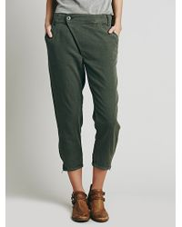 Free People Womens Crossover Trouser - Lyst