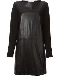 Vionnet Contrasting Sleeves Shift Dress - Lyst