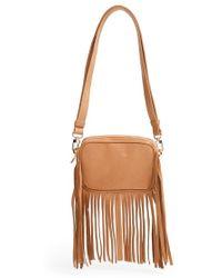 B-Low The Belt - Leather Convertible Fringe Belt Bag - Tan - Lyst