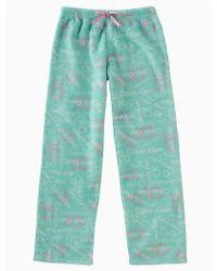 Calvin Klein - Girls Plush Logo Pants - Lyst