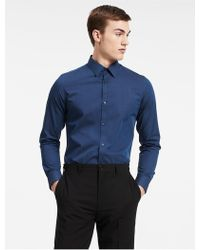 CALVIN KLEIN 205W39NYC - Classic Fit Non-iron Ministripe Cotton Shirt - Lyst