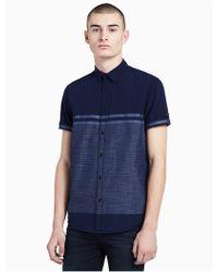 Calvin Klein - Big + Tall Classic Fit Striped Short Sleeve Shirt - Lyst