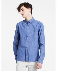 CALVIN KLEIN 205W39NYC - Cotton Chambray Shirt - Lyst